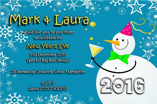 10 Personalised New Years Eve Party Invitations No4